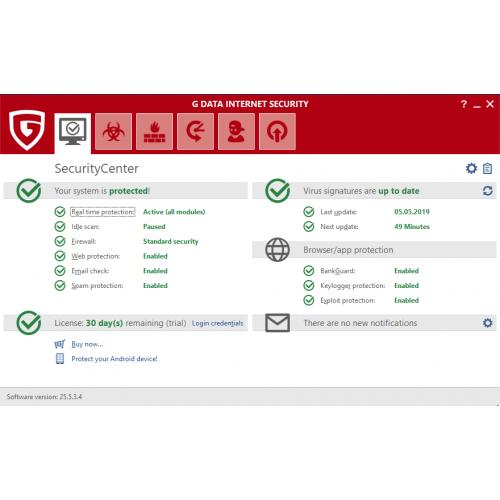 G DATA Internet Security купить лицензию 2019 года в stibsoft