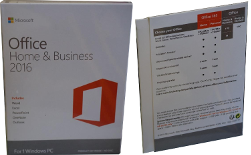 Microsoft Office Home and Business так выглядит коробка