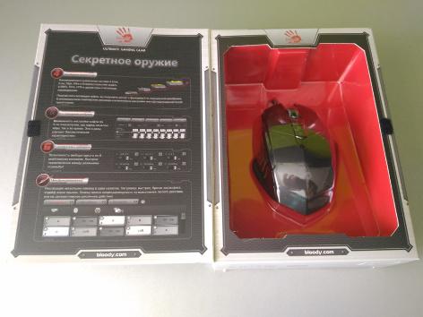 Коробка с мышью Bloody вид внутри